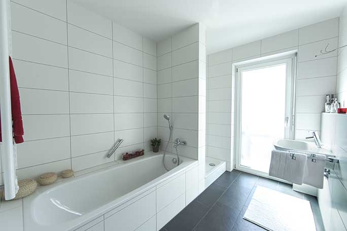 Musterwohnung, Badezimmer (nur zur Veranschaulichung)